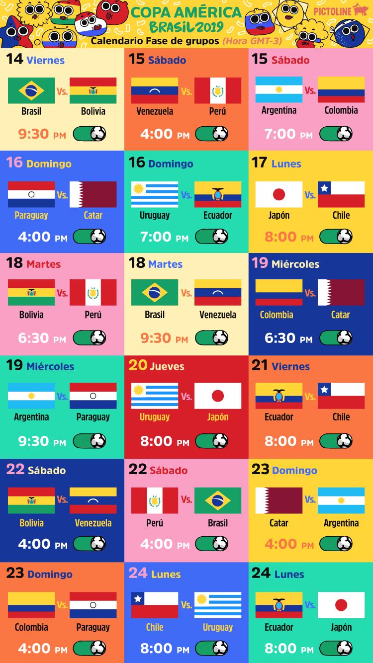 Calendario Copa.Hoy Comienza La Copa America 2019 Quieres Saber Cuando